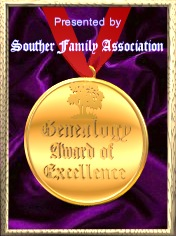 Souther Family Association Genealogy Award of Excellence